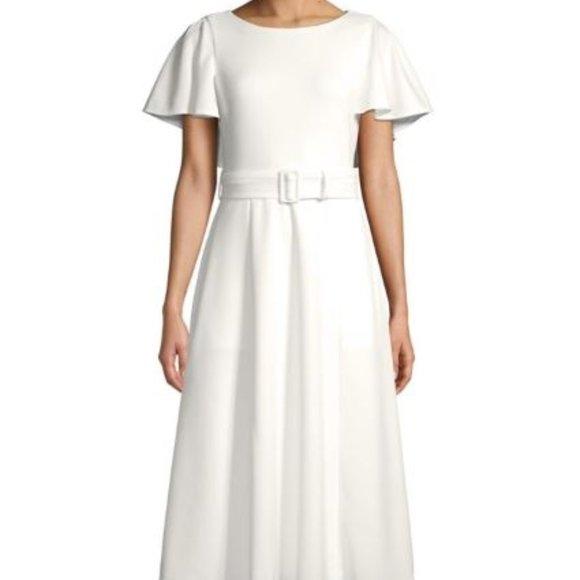 Calvin Klein Flutter-Sleeve A-Line Dress